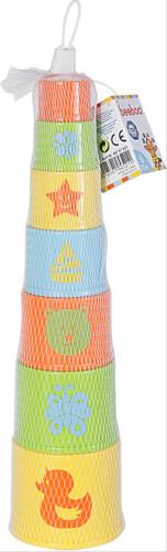 Beeboo Baby Pyramide, rund 7-teilig