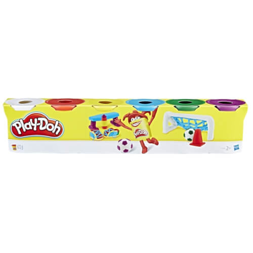 Hasbro C3898EU4 Play-Doh 6er Pack Knete Grundfarben