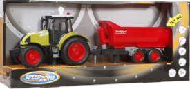 Speedzone Traktor mit Wannenkipper, Licht & Sound, Friktion