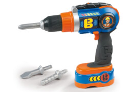 Simba Bob der Baumeister - Spielzeug-Bohrschrauber (elektrisch) inkl. 3 Aufsätzen, ab 3 Jahre
