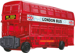 3D Crystal Puzzle - London Bus 53 Teile