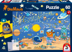 Schmidt Puzzle 56265 Die Maus Puzzle mit Turnbeutel, 60 Teile, ab 5 Jahre