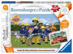 Ravensburger 00046 tiptoi® Puzzle für kleine Entdecker: Feuerwehrmann Sam