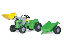 rollyToys Kiddy Futura mit Anhänger und Frontlader grün