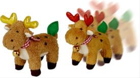 Tanzende Elche Weihnachtsexpress, sort.